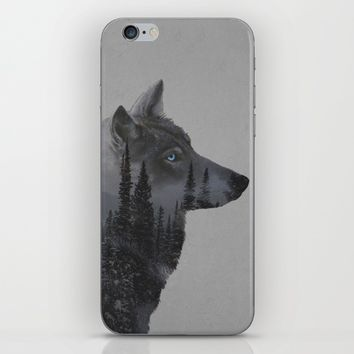 Winter Wolf iPhone & iPod Skin by Davies Babies