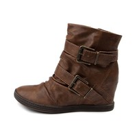 Womens Blowfish Tugo Wedge Boot, Tan, at Journeys Shoes