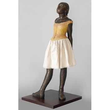 Degas Fourteen Year Old Little Dancer Ballerina with Fabric Skirt, Large 13.5H