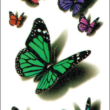 (Min order $0.5) waterproof temporary tattoo tatoo henna fake flash tattoo stickers Taty tatto 3D butterfly WM249