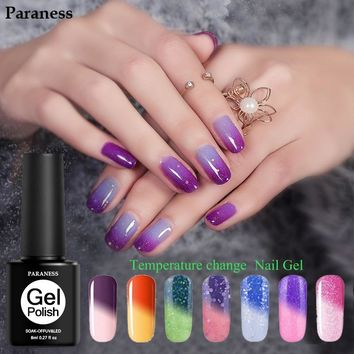 Paraness Lucky UV Gel Varnish Art Temperature Changing Color Gel Nail Soak Off L