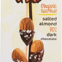 Theo Chocolate Organic Dark Chocolate Bar Salted Almond, 3 oz