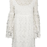 Annabelle White Lace Bell Sleeve Dress