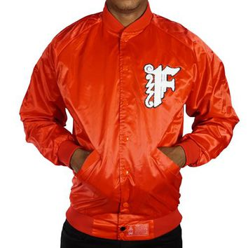 Laugh Last Satin Jacket in all red