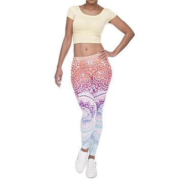 New Aztec Print Gothic Stretchy Leggings Women Adventure Time Workout Jeggings Female Fitness Leggings Casual Floral Tayt Pants