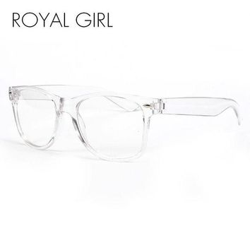 DCCKU7Q ROYAL GIRL New Fashion Eyeglasses Transparent Frame Glasses Cool Driving Spectacles  for Women SS023
