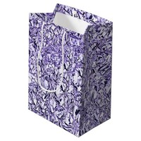 Contemporary Crumpled BlueFoil Effect Personalized Medium Gift Bag