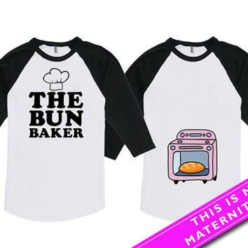 Matching Shirts For Couples Gift Pregnancy Announcement Baby Announcement Expecting Parents American Apparel Unisex Raglan MAT-581-582