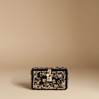 Dolce box bag in velvet with crystals | dolce&gabbana online store