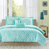 Intelligent Design Laurent Green Comforter Set