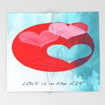 Love Is In The Air Throw Blanket by Mirimo