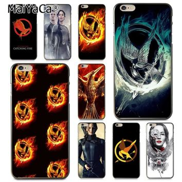 MaiYaCa The Hunger Games movie Logo Coque Shell Phone Case for Apple iPhone 8 7 6 6S Plus X XS XR XSMax 5 5S SE Cellphones