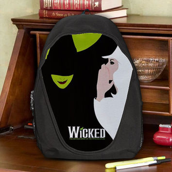 Wicked The Untold Story of The Witches of OZ Teen Kids Canvas School Backpack Bag Rucksack