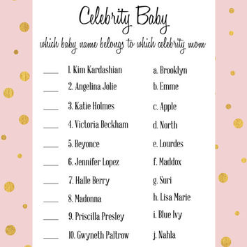 photo relating to Celebrity Baby Name Game Printable named Celeb Boy or girl Shower Recreation within just red and gold - movie star status recreation child shower printable electronic document