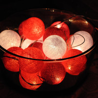 20 pink mix tone cotton ball lantern Wedding Holiday/Party String Lights decorative decor night light decor