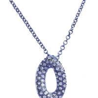 "Silver Oval ""O"" Necklace"