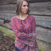 Fall Sunset Top in Mauve