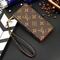 Louis Vuitton LV Fashion New Monogram Tartan Leather Couple Leather Case Leisure Mobile Phone Case Cover