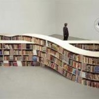 Never-Ending Stories Infinite-Loop Bookcase Design | Designs & Ideas on Dornob