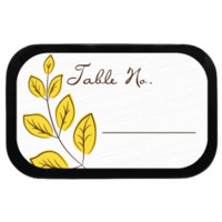 Leaf Personalized Wedding Placecards Mint Tins for Weddings, Parties, Choice of Candy Fill!