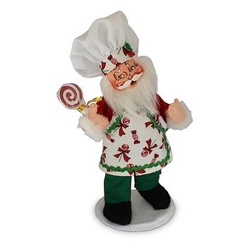 Annalee Dolls 6in 2018 Christmas Chef Santa Plush New with Tags