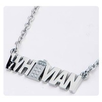 Doctor Who Whovian Nameplate Pendant with TARDIS Necklace - Body Vibe - Doctor Who - Jewelry at Entertainment Earth