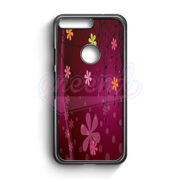 Cute Pink Flower Google Pixel Case | aneend.com