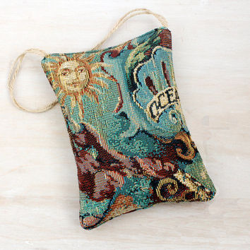 Tapestry Lavender Sachet, Old World Map Theme