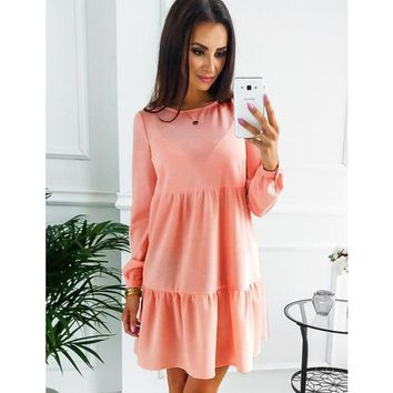 New Arrive Women Dress Autumn And Winter Fashion Long Sleeve Dresses Blue Pink ArmyGreen Womens Clothing Sexy Dress