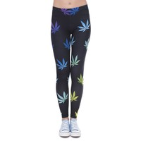 Black Rainbow Leggings - Women's Yoga Pants - CannaFit Collection
