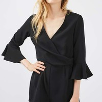 Trumpet Sleeve Playsuit