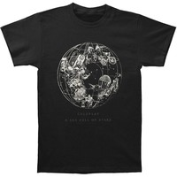 Coldplay Men's  Sky Full Of Stars Soft Mens T Slim Fit T-shirt Coal