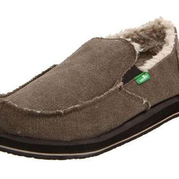ONETOW Sanuk Vagabond Chill Brown Slip-On Shoes