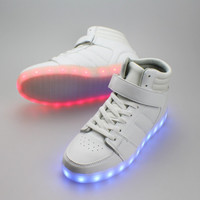 Zaps High Top LED Light Up Shoes