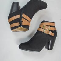 Best of Both Colors Bootie in Black
