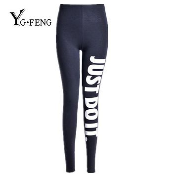 YGFENG New Women's Printed Leggings Fashion Work Out Knitted Jeggings Leggings Bodybuilding Fitness Stretch Slim Black Leggings