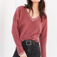 Truly Madly Deeply V-Neck Pullover Sweatshirt | Urban Outfitters