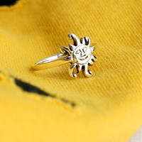 Sun Silver Ring Sterling Ring .925 Silver Ring Personalized Ring