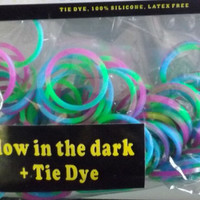 Glow loom Rubber Bands that fit Rainbow Loom Tie Dye 100 pack New Tie Dye rubberbands no.42