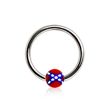 316L Surgical Steel Captive Bead Ring with Rebel UV Ball