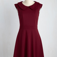 Foxtail & Fern Dress in Merlot | Mod Retro Vintage Dresses | ModCloth.com