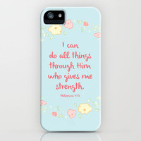 Philippians 4:13 iPhone Case by PrintableWisdom | Society6