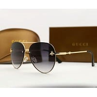 GUCCI Stylish Woman Chic Bee Candy Color Summer Sun Shades Eyeglasses Glasses Sunglasses