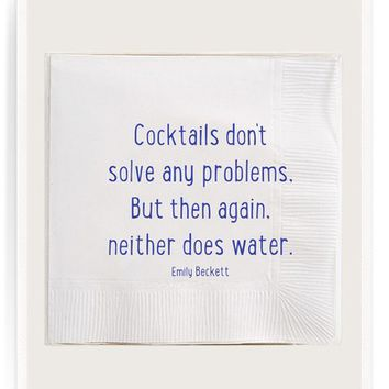 Ben's Garden Cocktails Don't Solve Any Problems Cocktail Napkins | Nordstrom