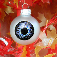 Eyeball Ornament Halloween decor Hand Painted Spooky Eye Ornament Ball Creepy Christmas Unusual Holiday Ornament Goth Decoration Eccentric