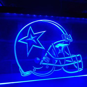 LA236- Dallas Cowboys Helmet Beer Bar   LED Neon Light Sign     home decor  crafts