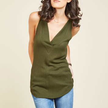 Everyday Upgrade Tank Top in Thyme | Mod Retro Vintage Short Sleeve Shirts | ModCloth.com