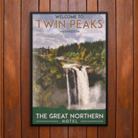 Great Northern Hotel, Twin Peaks Poster or Framed Print