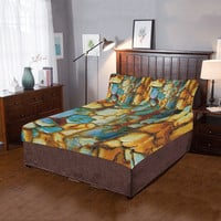 Rusty texture 3-Pieces Bedding Set | ID: D2031194