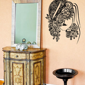 Vinyl Wall Decal Sticker Venetian Flower Mask #OS_AA1099
